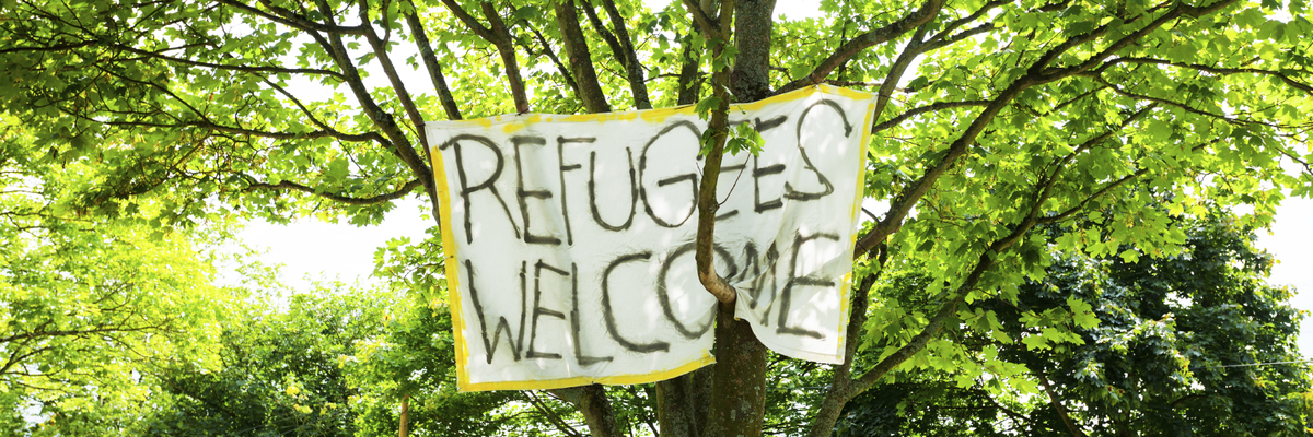 Extra wide welcomerefugees